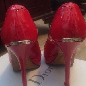 c5f9530ccda1 Christian Dior Shoes - Beautiful red patent Dior heels.